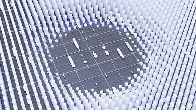 Futuristische technologie hintergrund 3d illustration rendering