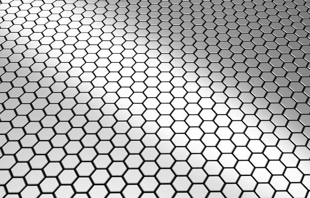Futuristische technologie sechseck textur wabenmosaik glänzende oberfläche