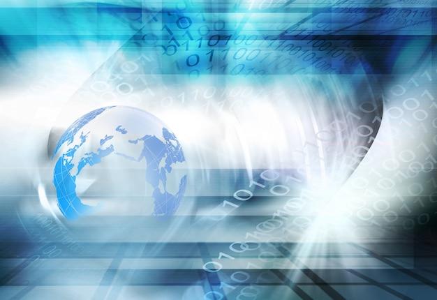 Futuristischer digitaler welthintergrund