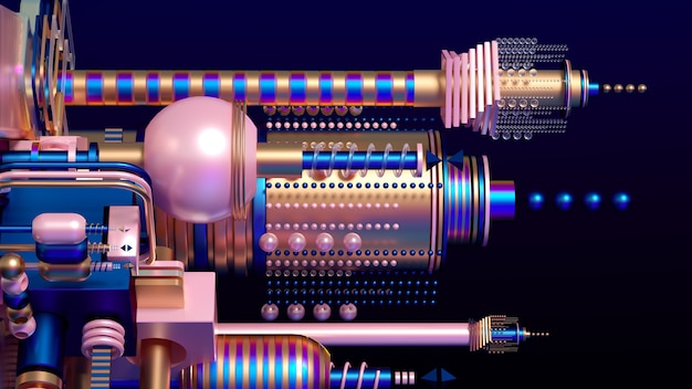 Futuristischer hintergrund des modernen minimalismus mit würfeln und kugeln