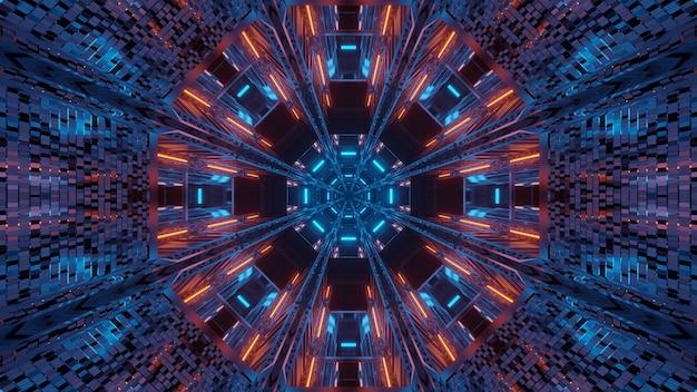 Futuristischer hintergrund mit leuchtendem abstraktem neonlicht
