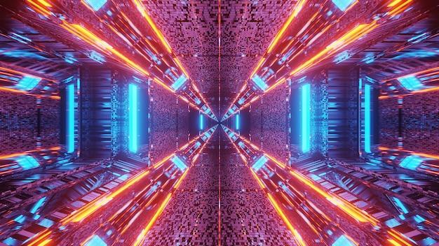 Futuristischer hintergrund mit leuchtenden abstrakten neonlichtmustern - ideal für einen kosmischen hintergrund