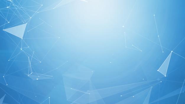 Futuristischer netzhintergrund des abstrakten technologie- und wissenschaftshintergrundes