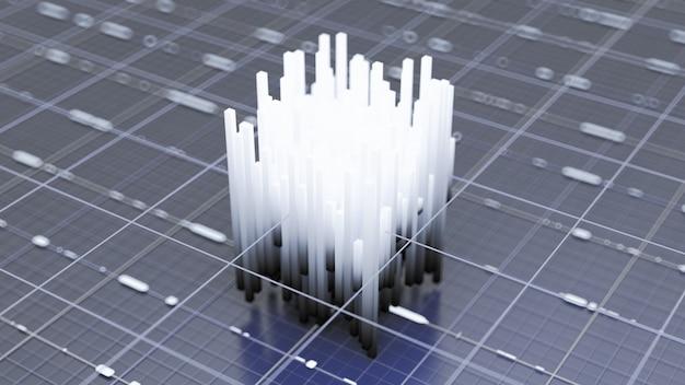 Futuristischer technologischer hintergrund. 3d-illustration, 3d-rendering.