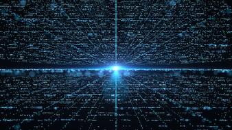 Futuristisches großes Dateninformationstechnologiekonzept.