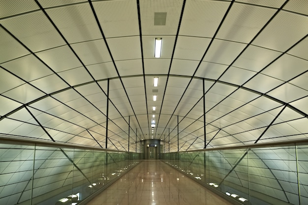 Futuristisches interieur.