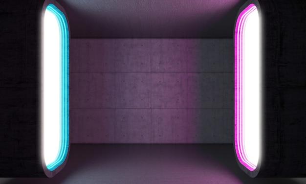 Futuristisches lichtportal
