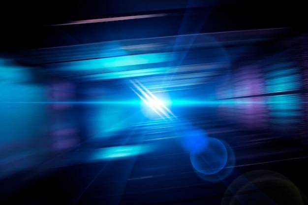 Futuristisches spektrum ghost lens flare hintergrund