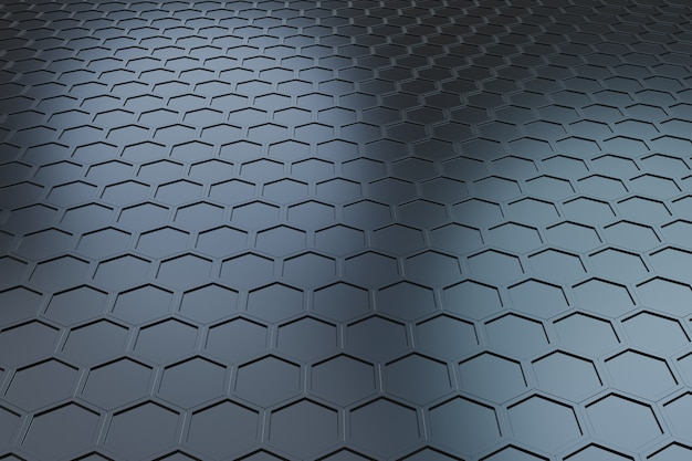 Futuristisches wellenhexagonmuster