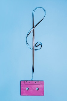 G-notenschlüssel von kassette