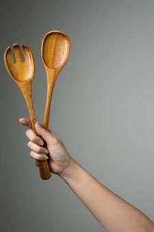 Gabel-löffel-küchengerät des handpfannenwender-salats machen lebensmittelausrüstung