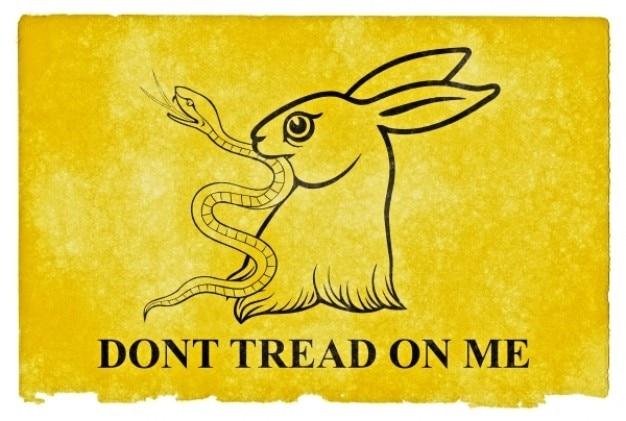 Gadsden parodie grunge flag