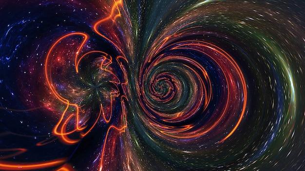 Galaxie ein system von millionen oder milliarden von sternen, zusammen mit gas und staub,
