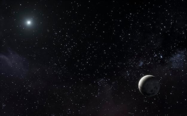 Galaxienachtlandschaft