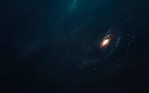Galaxy, wunderschöne science-fiction-tapete mit endlosem weltraum. elemente dieses bildes von der nasa geliefert