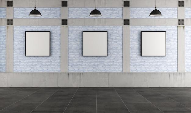 Galerie für moderne kunst in einem loft