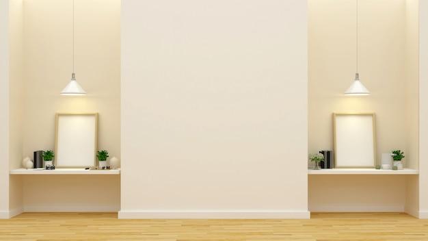 Galerie oder kunststudio - 3d-rendering