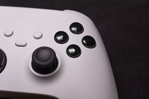 Gamecontroller der nächsten generation in nahansicht