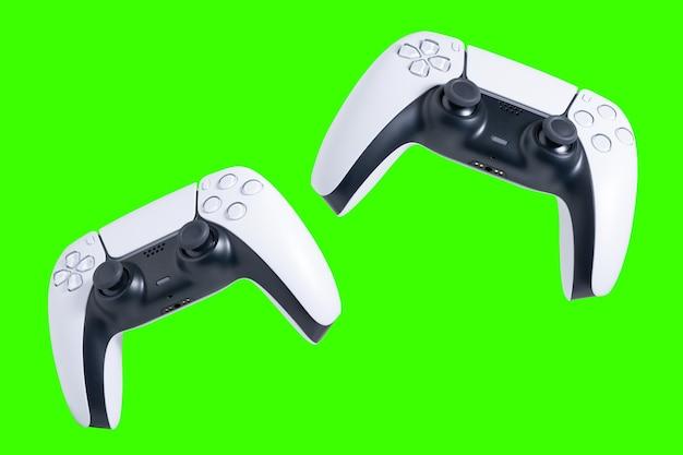 Gamecontroller mit grünem hintergrund zum ausschneiden