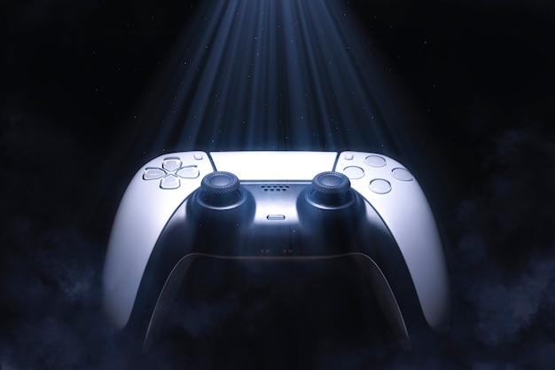Gamecontroller mit licht und nebel