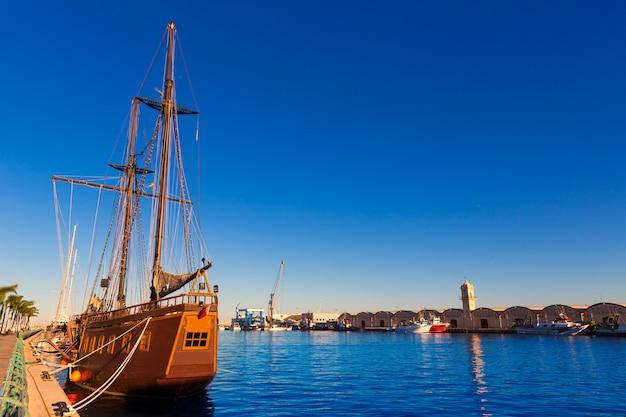 Gandia hafen puerto valencia im mediterranen spanien
