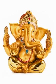 Ganesha-statue auf weiß