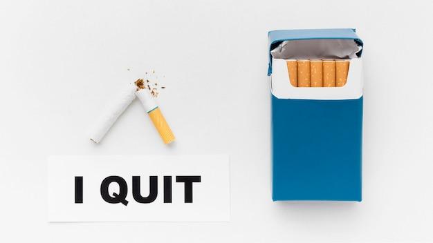 Ganz rauchende nachricht