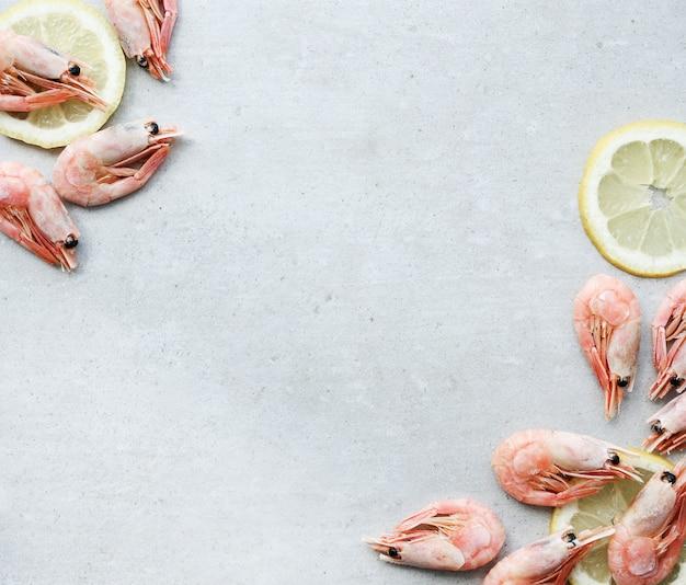 Garnelen mit zitrone