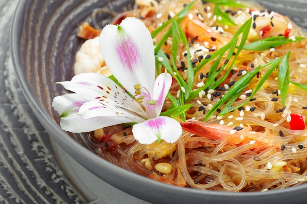 Garnelenscampi mit spaghetti