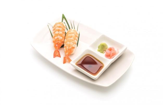 Garnelensushi nigiri - japanischer essensstil