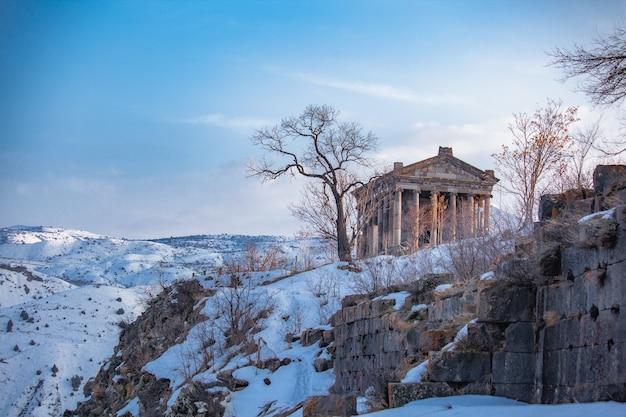 Garni in armena im winter