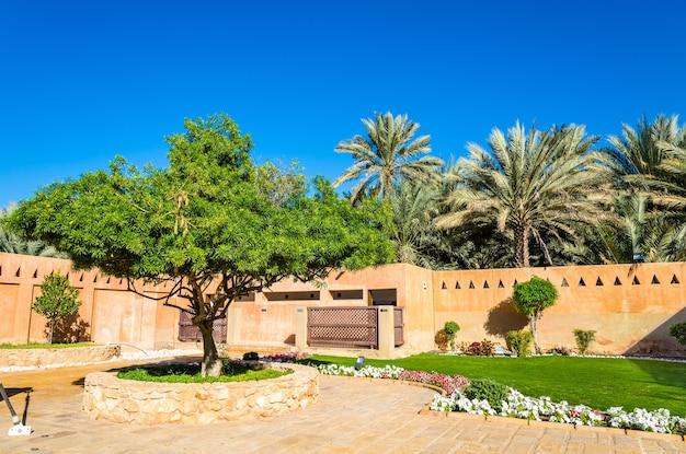 Garten im al ain palace museum - vereinigte arabische emirate