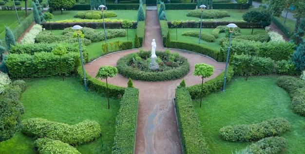 Garten im französischen stil, luftaufnahme