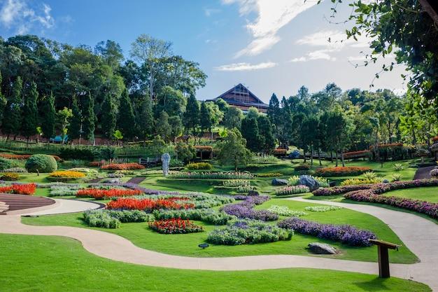 Garten von doi tung royal villa, chiang rai, thailand
