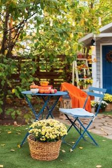 Gartentisch und stühle auf herbsthof