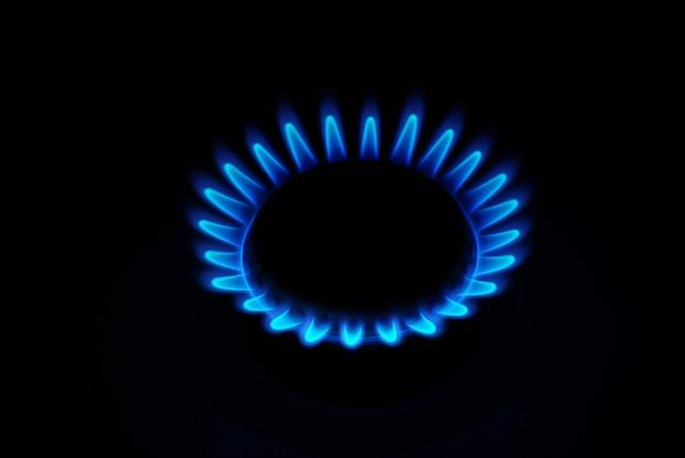 Gas auf dunkelheit