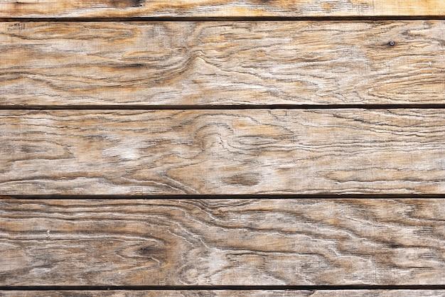 Gealterte braune hölzerne plankenwand