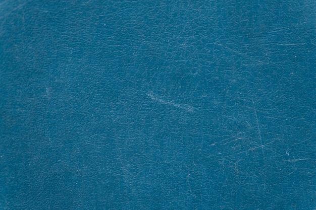 Gealterter strukturierter hintergrund aus blauem leder