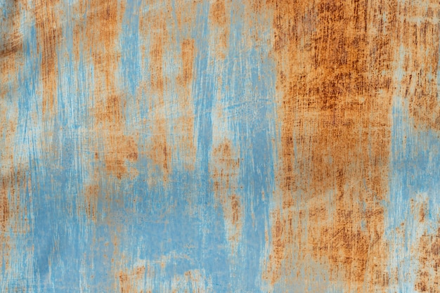 Gealtertes rostiges metall, blau gestrichen. vintage hintergrund