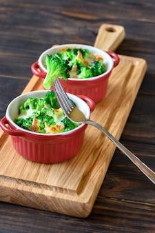 Gebackener brokkoli mit käse