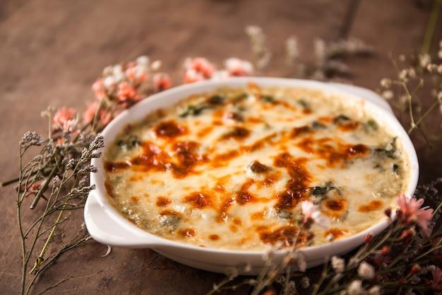 Gebackener spinat mit käse