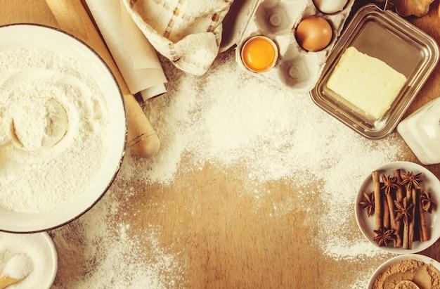 Gebäck, kuchen, selbst kochen. selektiver fokus