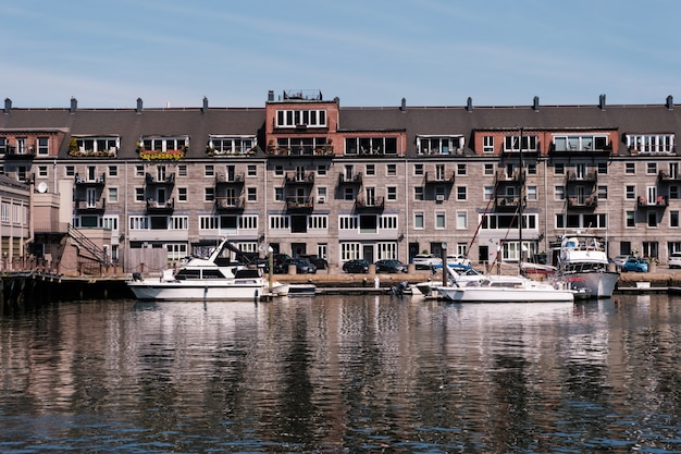 Gebäude im hafen von boston