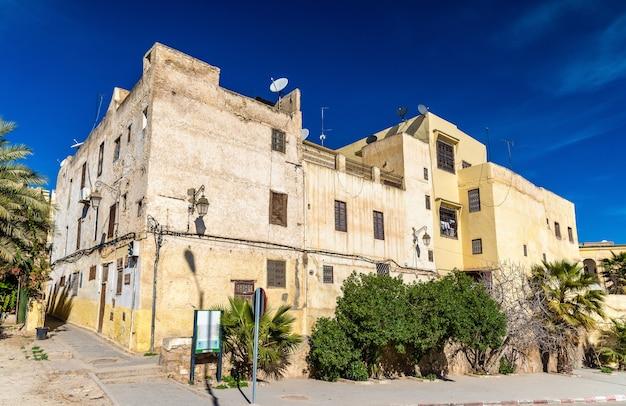 Gebäude in der medina von fes - marokko