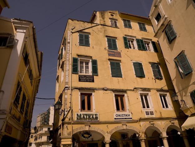 Gebäude in korfu griechenland