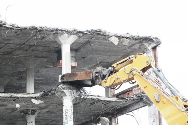Gebäudeabbruchbaustelle