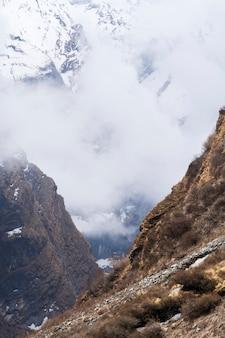 Gebirgszug in nepal