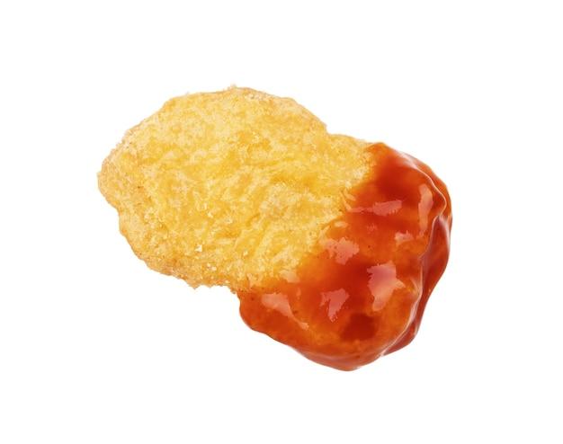 Gebratene chicken nuggets und sweet-chili-sauce