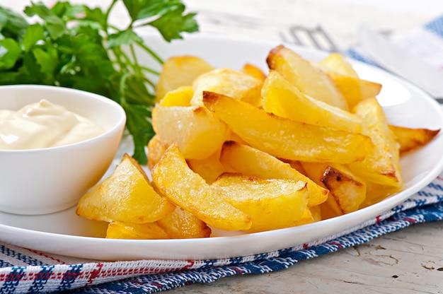 Gebratene kartoffelschnitze