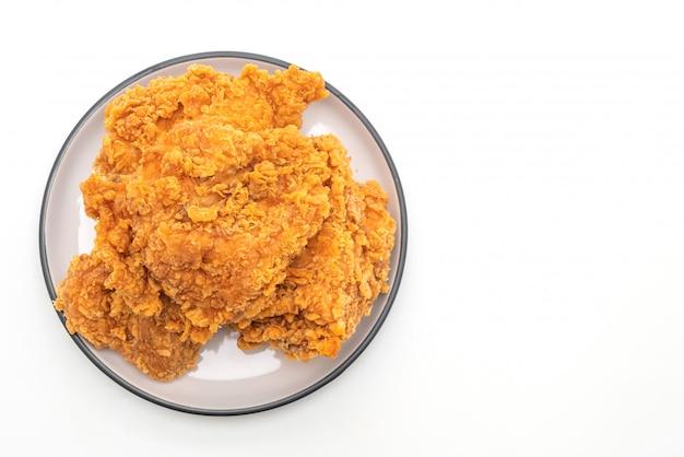 Gebratenes hühnermehl (junk food und ungesundes essen)